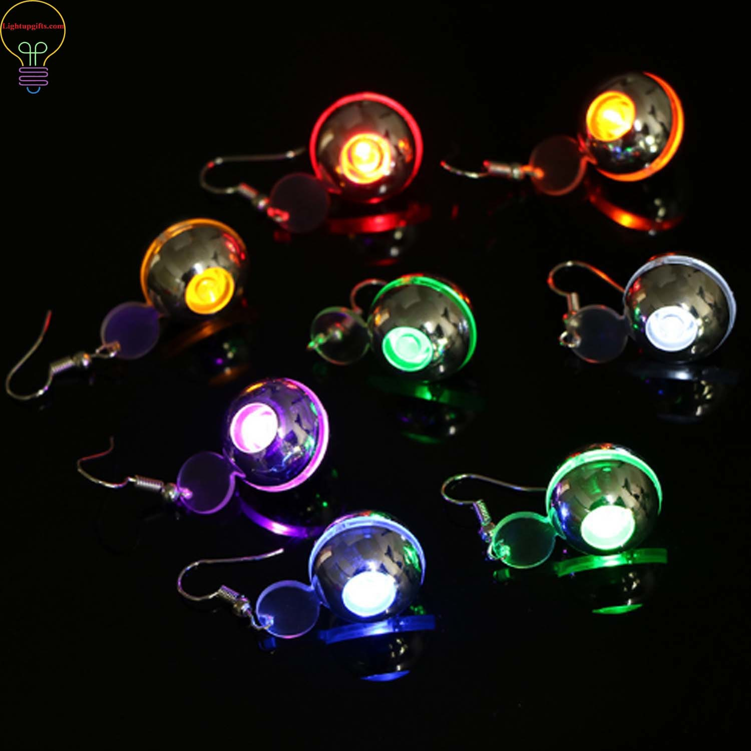 Led Earrings Led Flashing Circular Led Earrings Light Up Eardrop