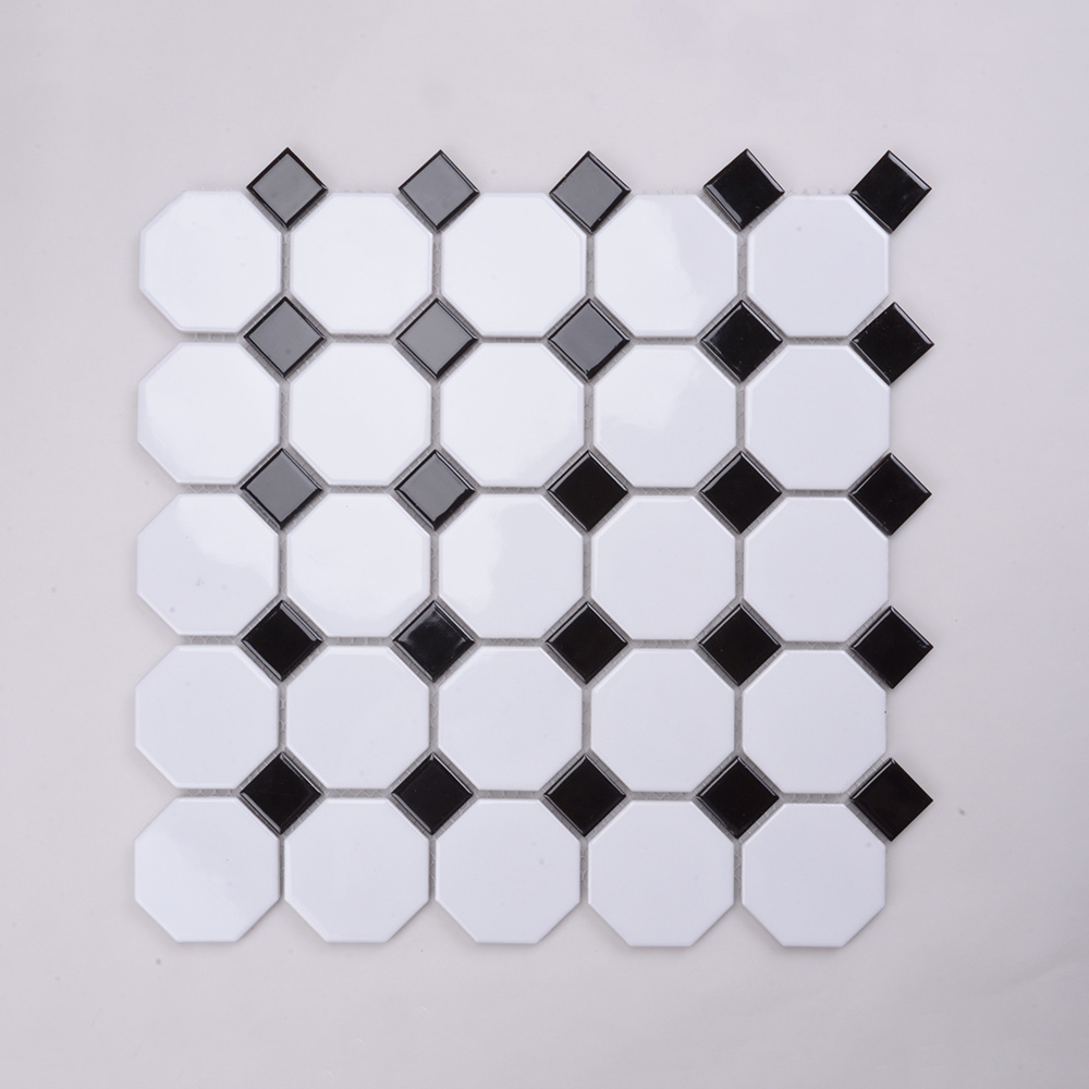 China Popular In South Africa Mosaic Bathroom Floor Tile Black White China Mosaic Tile Tiles Mosaic