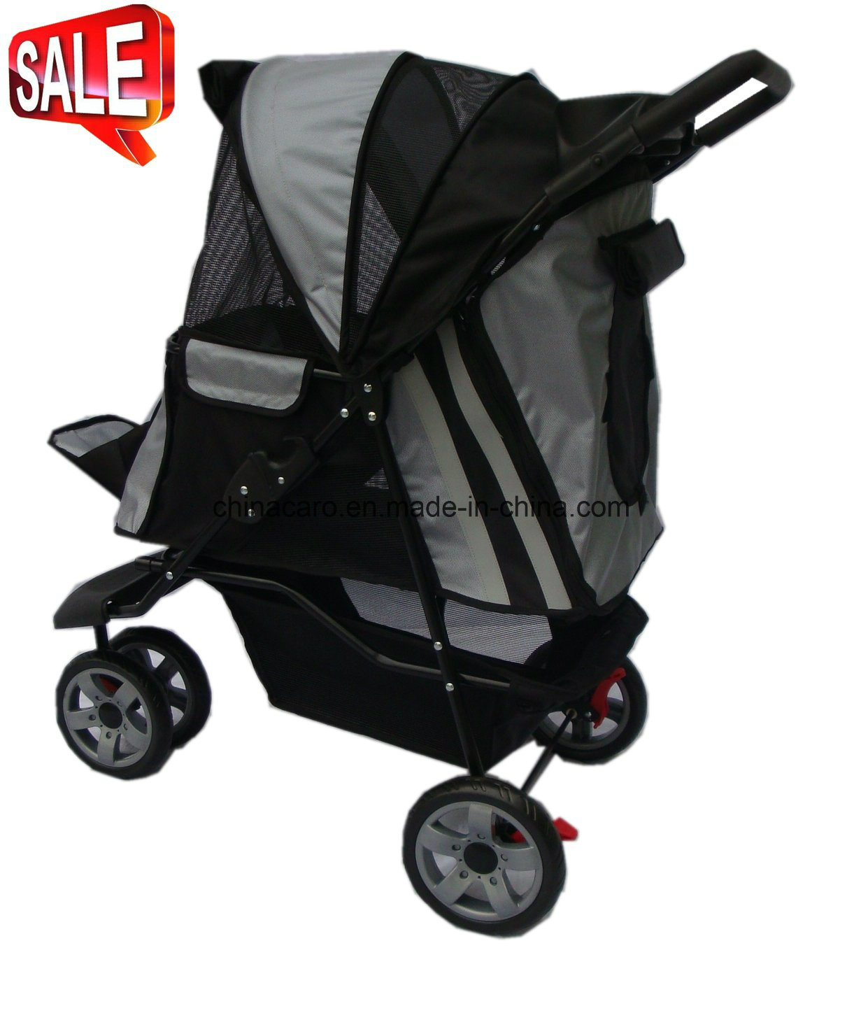 Pet Carrier On Sale Hot Item 3 Wheels Pet Carrier Stroller Dog Outdoor Travel Bb Ps02