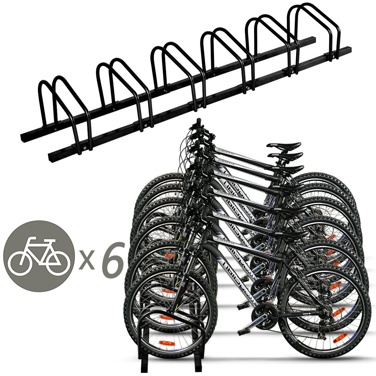 Parking Garage Bike Rack Hot Item 6 Bike Rack Bicycle Stand Parking Garage Storage Organizer Cycling Rack Black