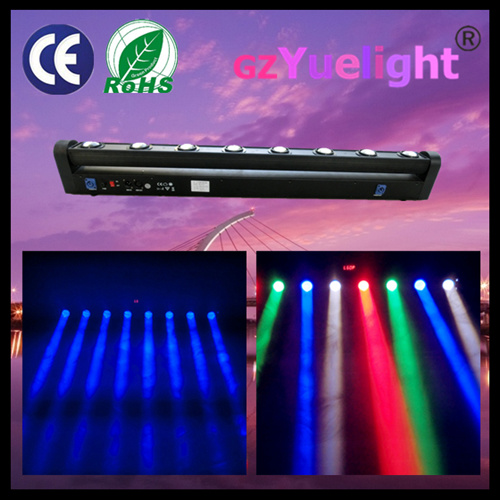 China 8X10W 4in1 RGBW Linear Beam Rotation Bar Moving Head LED Scan