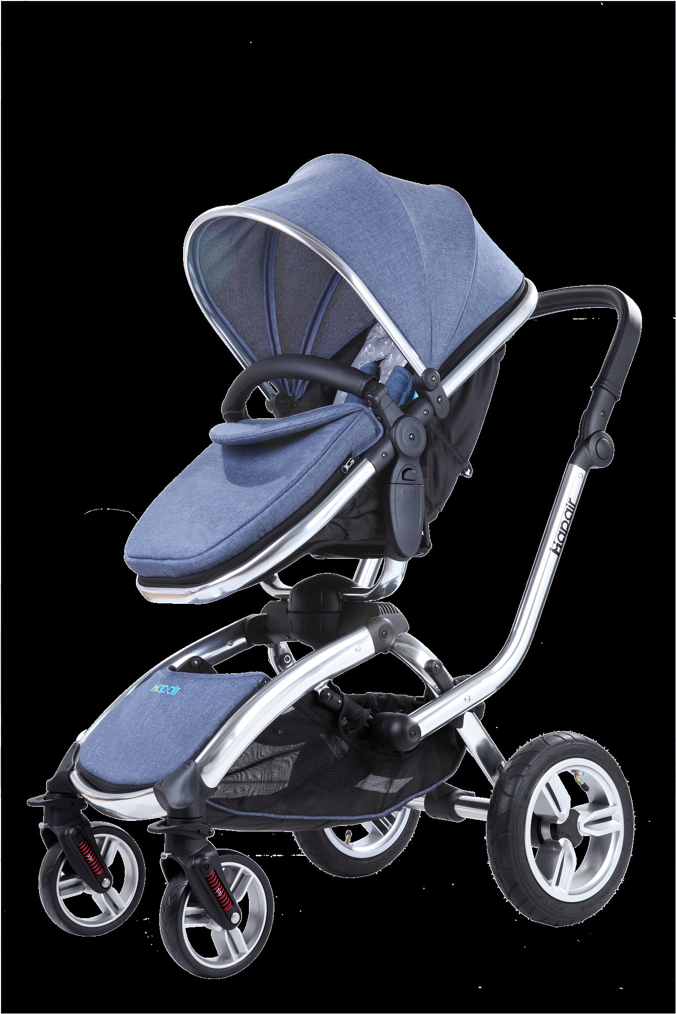 Carriage Type Strollers High Landscape Baby Pram Buggy Baby Stroller With Big