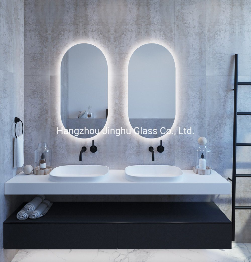 China Hotel Decorative Round Oval Rectangle Wall Mounted Bathroom Lighted Mirror China Bathroom Mirror Led Mirror