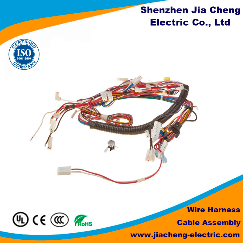 China Wire Cable Spring Coiled Safety Harness Magic Tape Hook