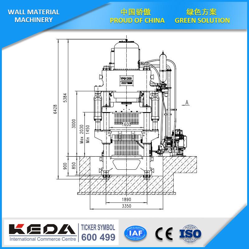 China Keda-Hlt Automatic Hydraulic Press for Standard Brick Making