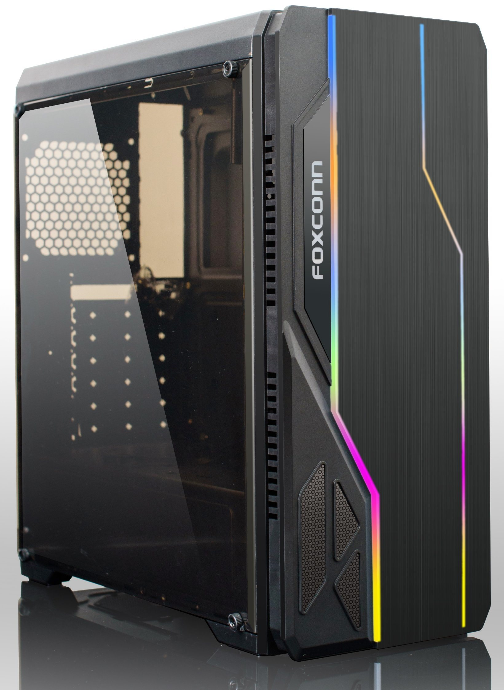 Case Pc Hot Item Hot Sale Computer Pc Case With Full Glass Window And Rgb Strip
