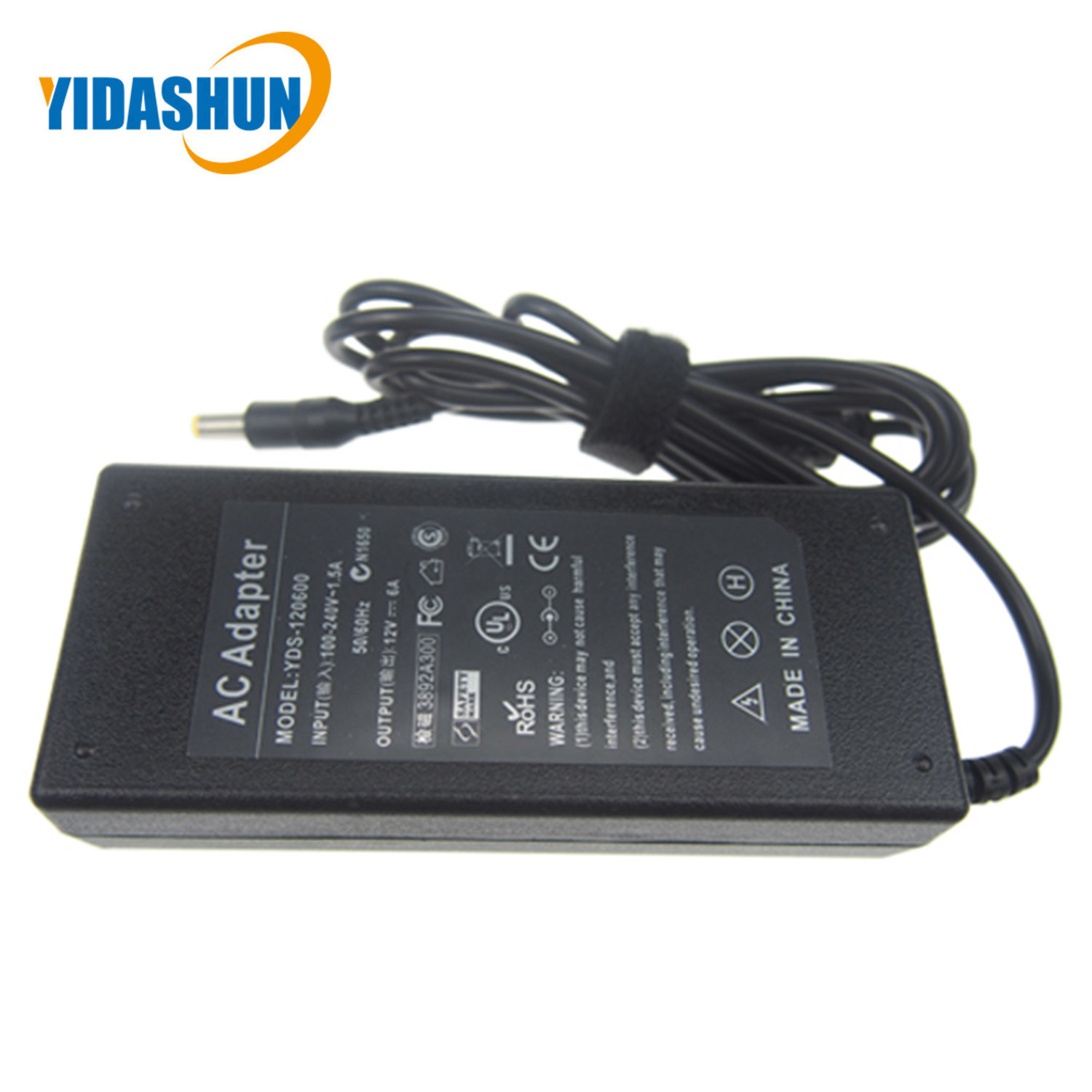 12 Volt Power Adapter Hot Item For Lcd Ac Power Supply Adapter Dc 12 Volt 6 Amp 12v 6a