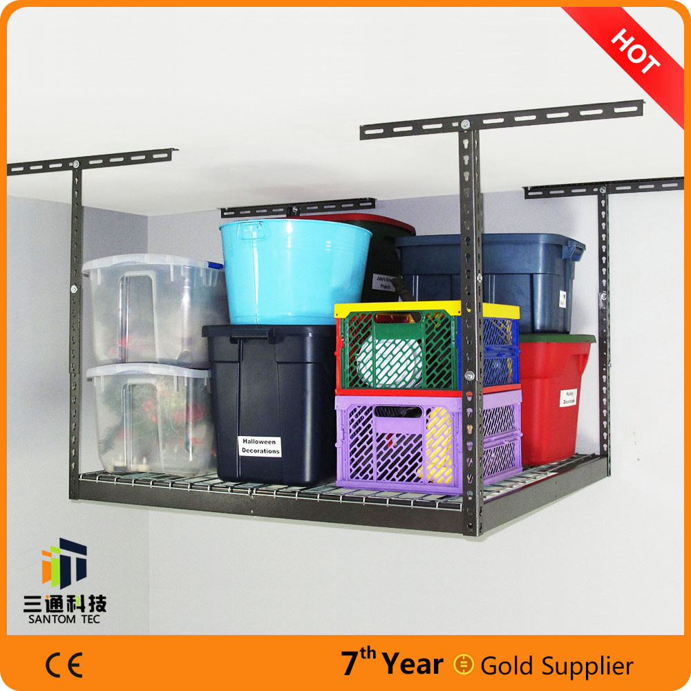 China Garage Storage Systems Ideas Ceiling Rack Shelving Metal Adjustable Diy New For Sale China Garage Overhead Rack Garage Ceiling Rack
