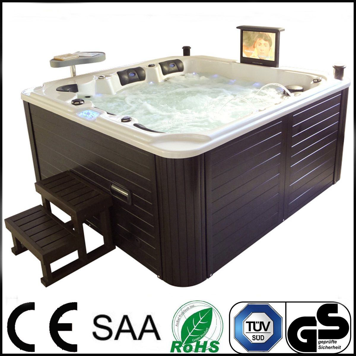 Jacuzzi Whirlpool Hot Item Luxury Two Lounges Outdoor Jacuzzi Whirlpool For 6 Persons Pandora