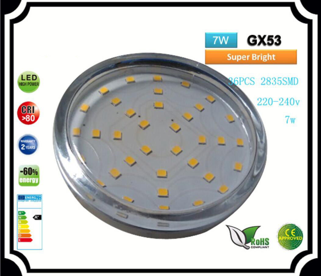 Gx53 Dimmbar China Gx53 Led 7w Pc Cover Led Bulb 3528 30smd China Led Light