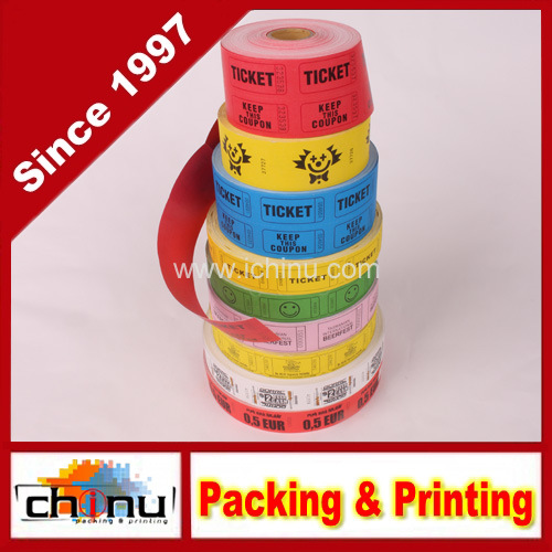 China Double Roll Raffle Tickets, 500CT, Assorted Colors (420069