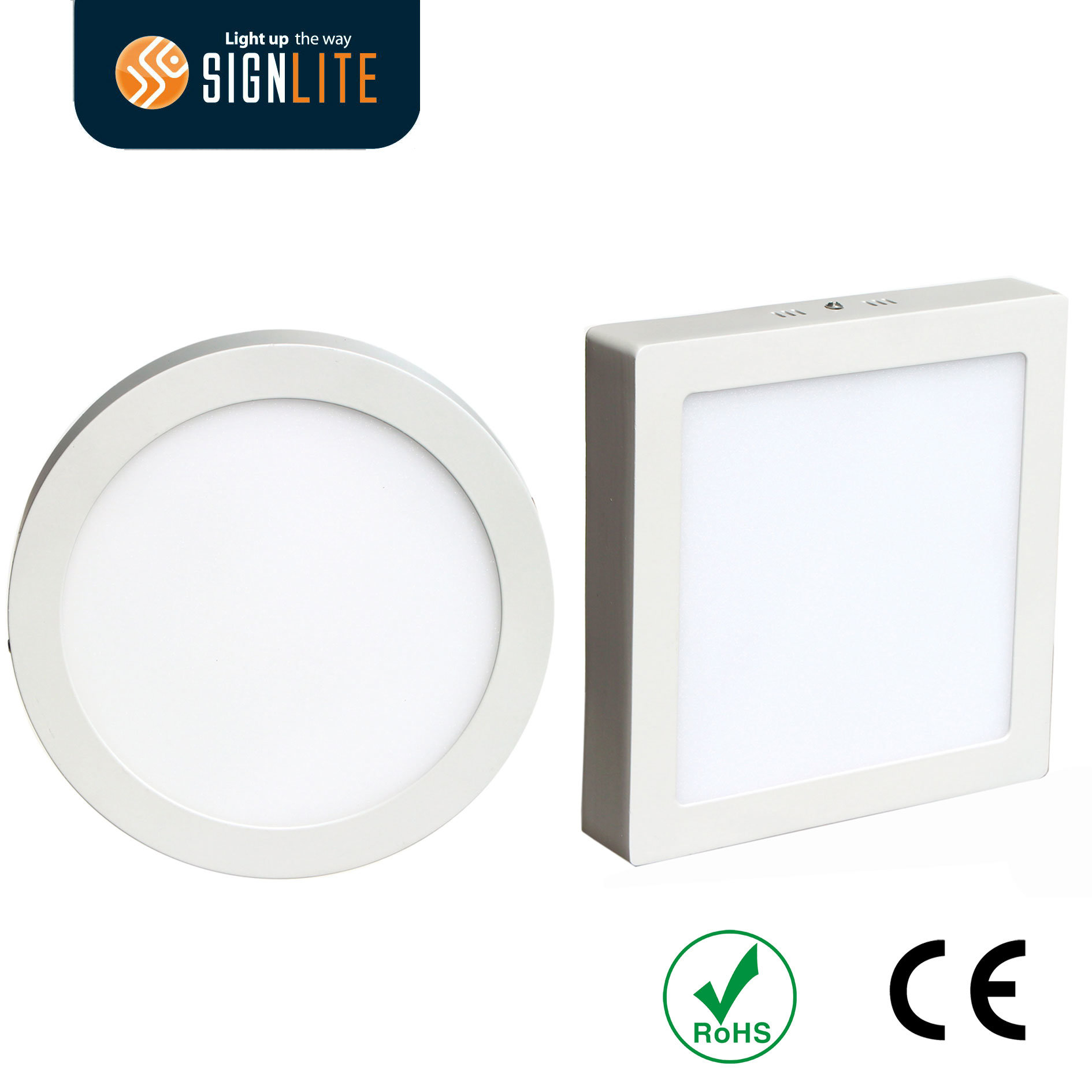 Led Panel Light Square And Round China Surface Mounting Installation Square Or Round 6w 12w