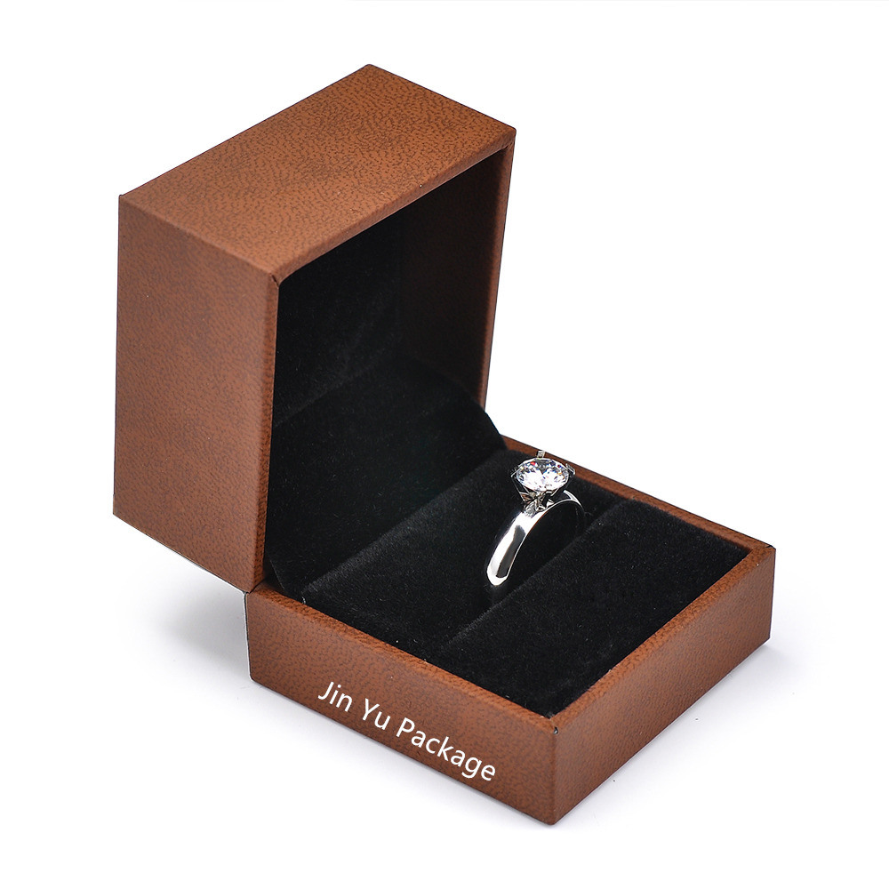 Wholesale Jewelry Packaging China Luxury Excellent Brown Color Gift Ring Jewelry