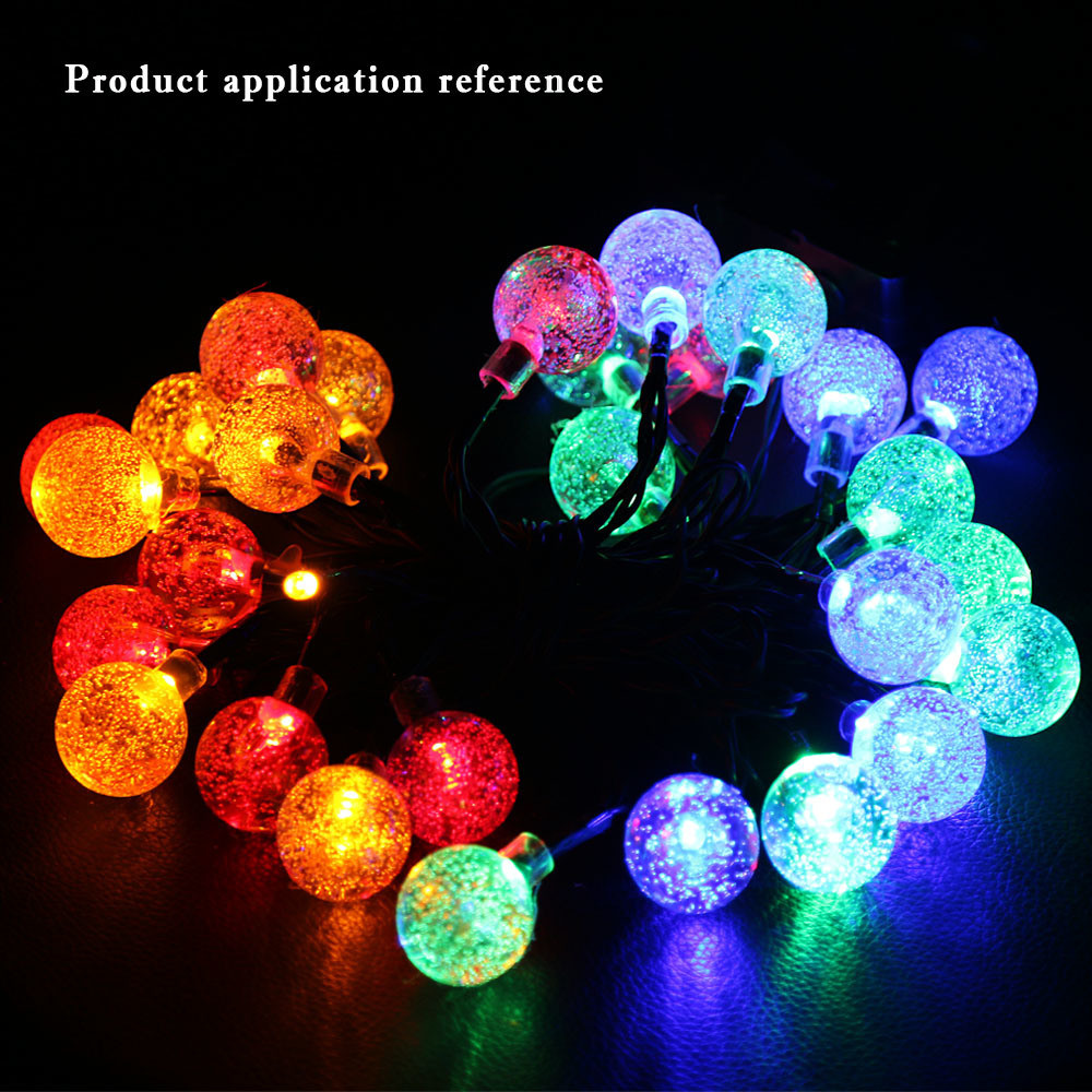 Outdoor Bubble Bett Hot Item Christmas Festive Colorful Garden Bubble Ball 30 Led Solar String Lights