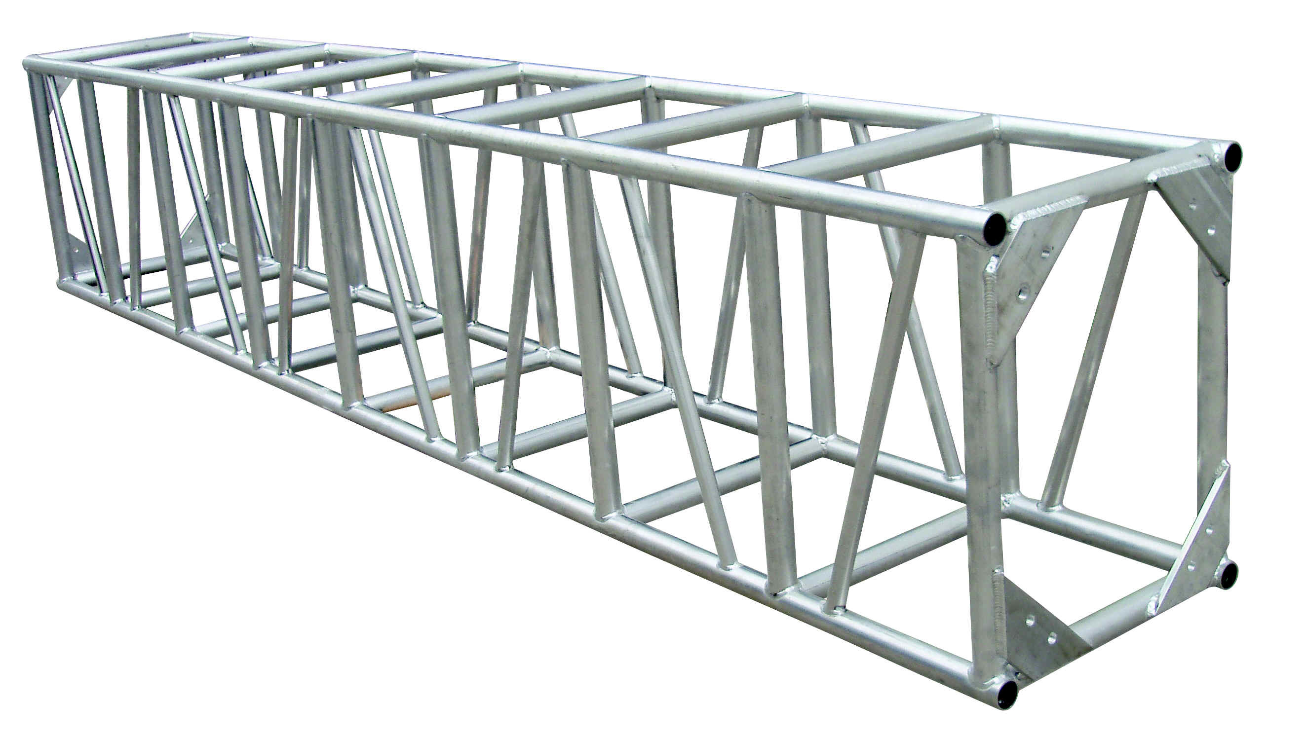 global truss side lighting sloped angled booth