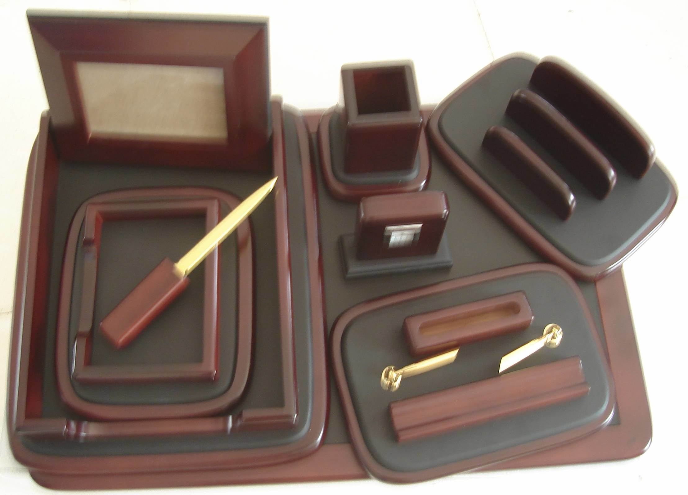 Wood Desk Organizer Set China Wood Desk Organizers Set Kkf107 China Wood Desk