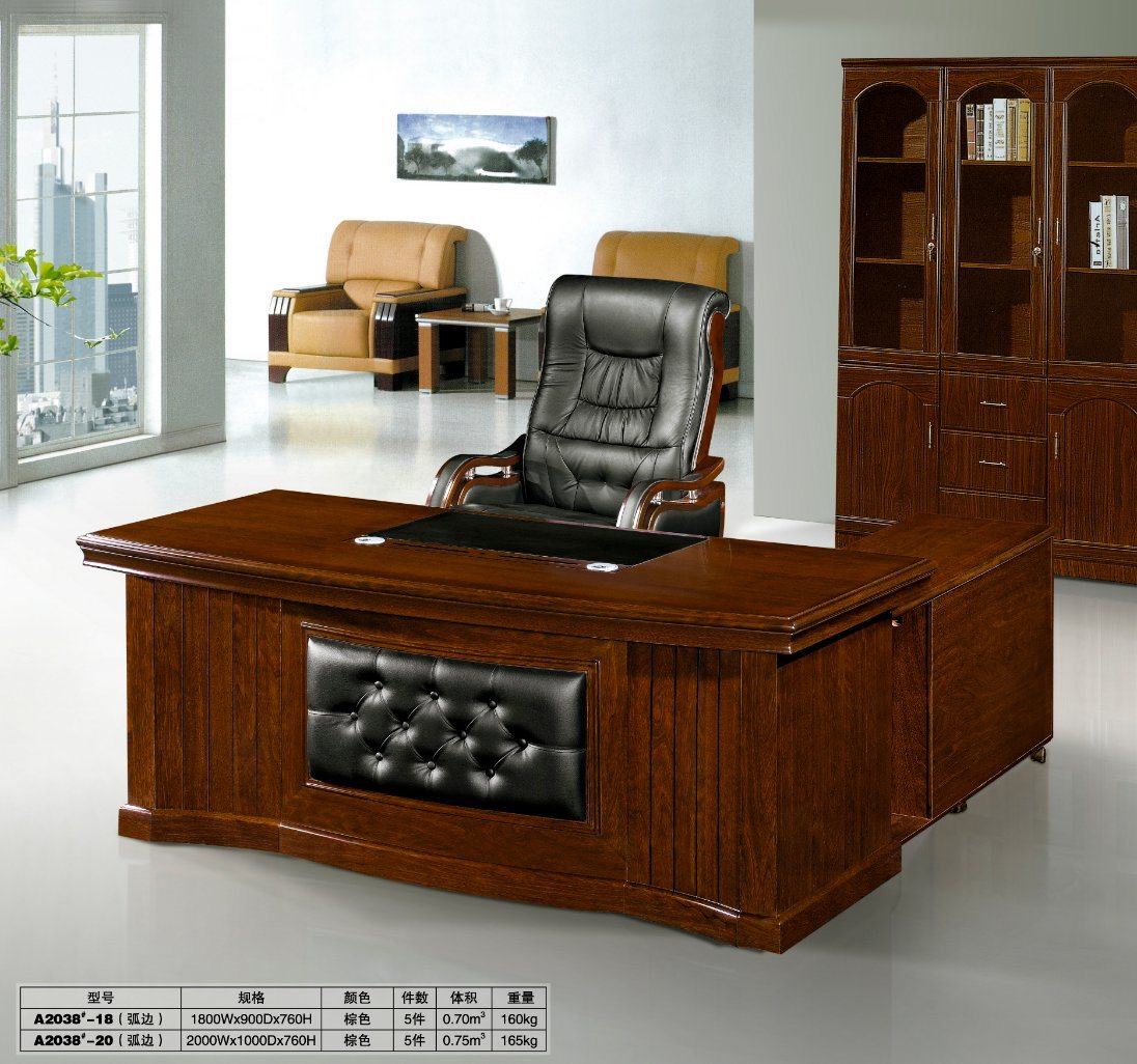 Classic Table Office Hot Item Classic Wooden China Office Furniture L Shape Front Office Desk Design With Side Cabinet With Drawer Wooden Office Table Design Feca2038