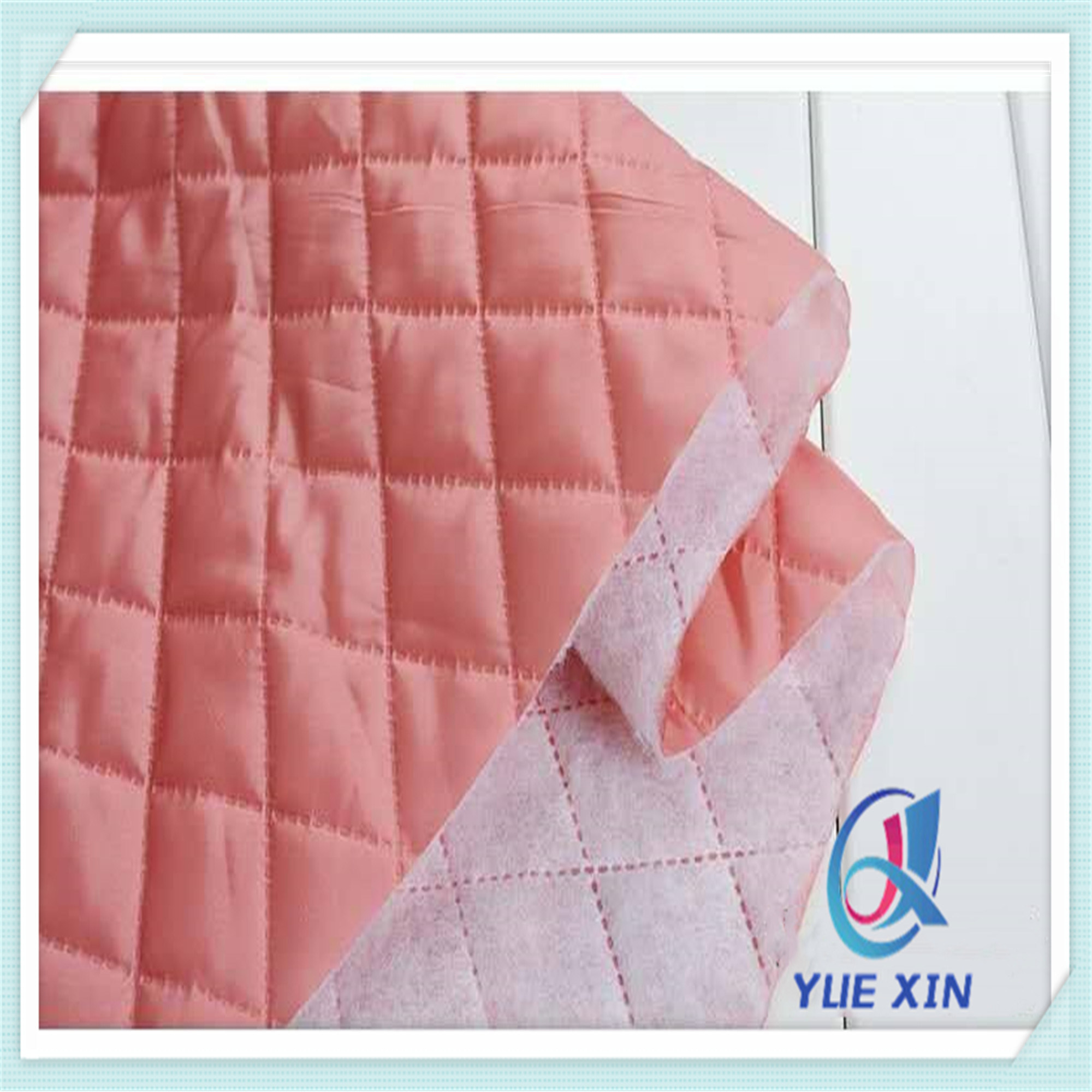 Quilted Fabric Hot Item 100 Polyester Diamond Ultrasonic Quilted Fabric