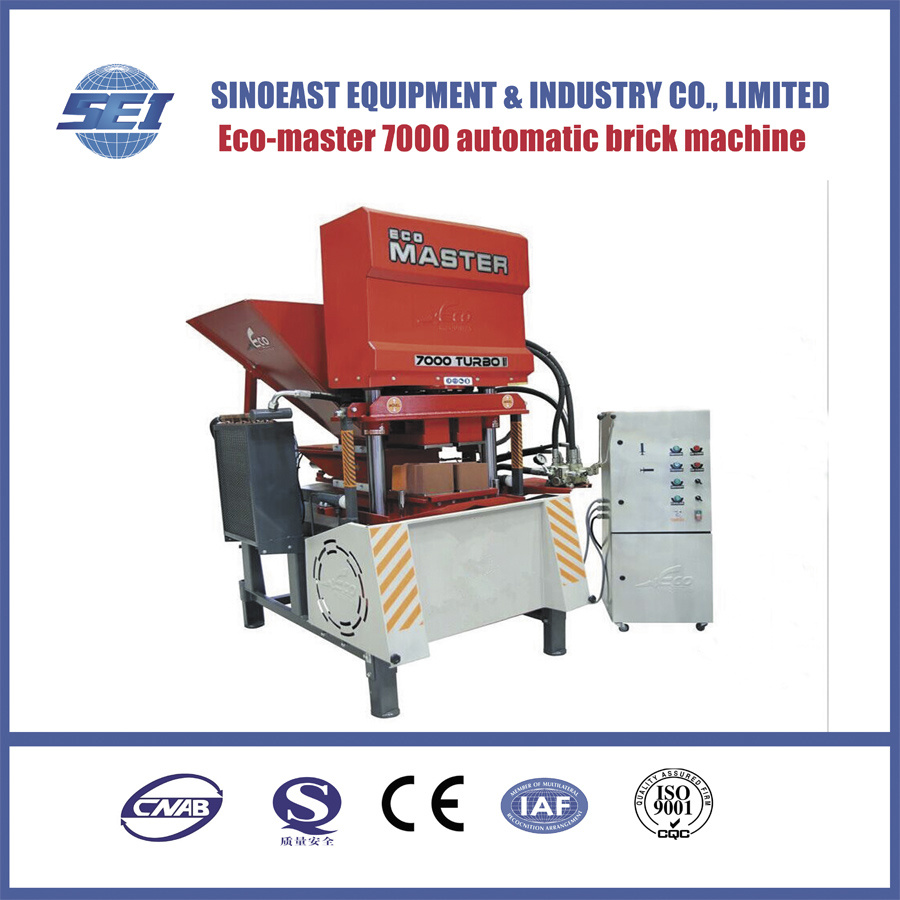 China Clay Suppliers Hot Item Eco7000 Automatic Clay Brick Making Machine Suppliers Hydraulic Soil Interlocking Block Machine Price