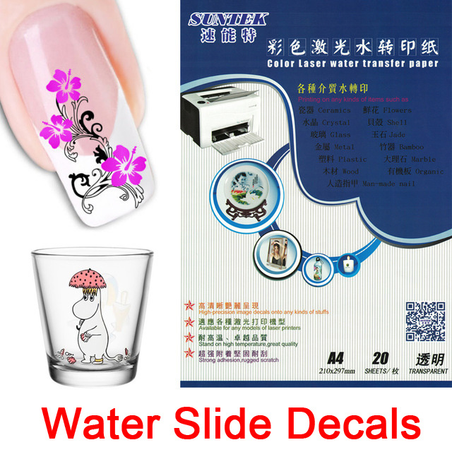 China Nail Stickers Water Slide Decals for Ceramic Glass Plastic Mug