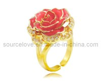 Rose Gold Ring: Rose Gold Ring Dipped In Platinum