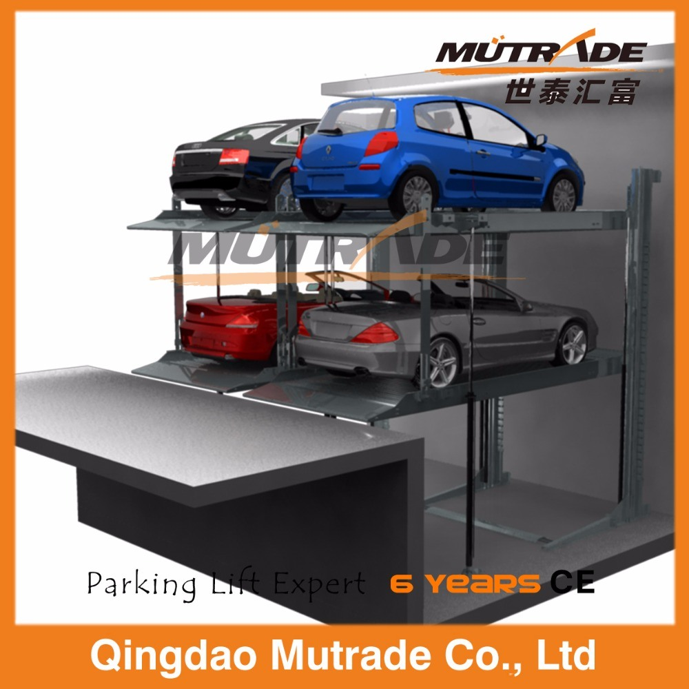 Garage Car Lift Images Hot Item Two Post Pit Hydraulic Auto Parking System Car Lift Garage For Underground