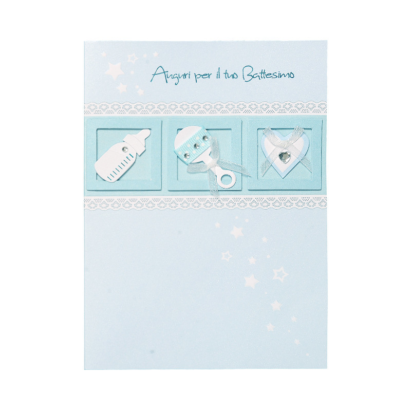 China Best Wishes Baby Boy Congratulations Cards - China Baby