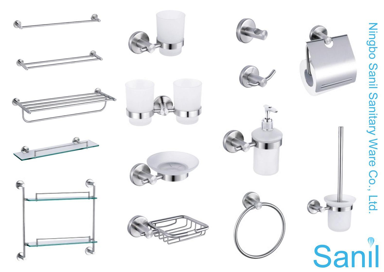 Stainless bathroom accessories - Bathroom Fittings Set Download