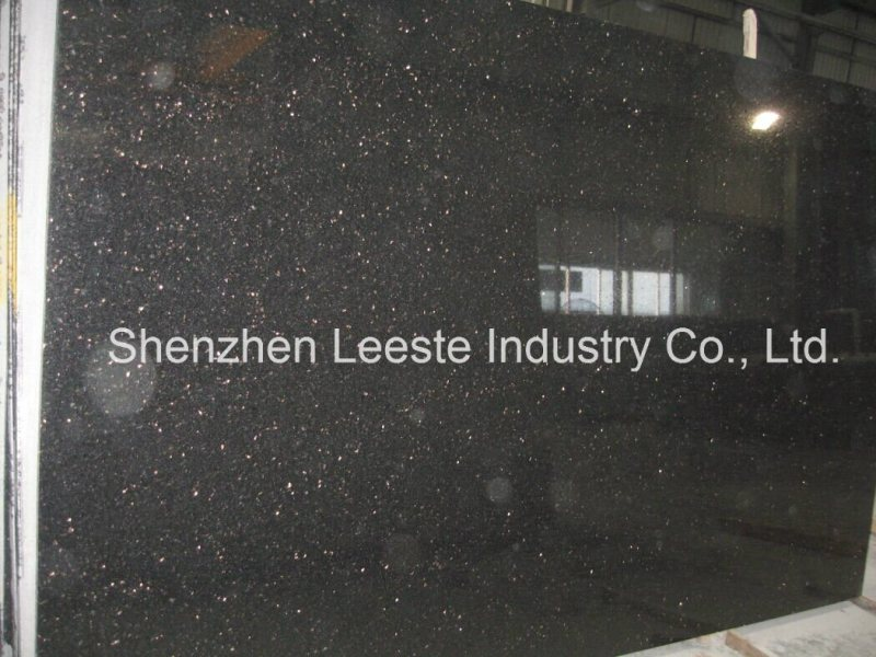 Large Of Black Galaxy Granite