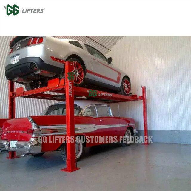 China Manual Release Hydraulic 4 Post Auto Parking Car lift - China