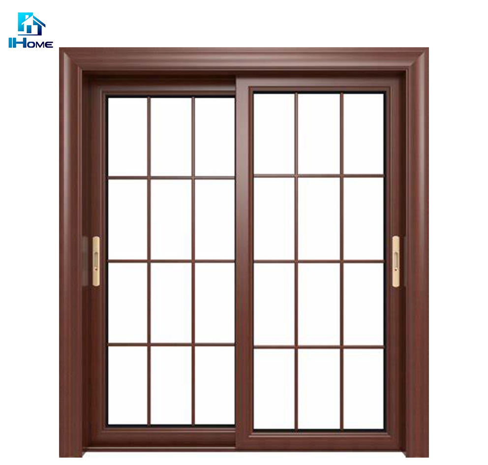 China Modern Main Entry Design Double Leaf Glass Sliding Door With Tempered Glass For Philippines China Sliding Door Stacking Door