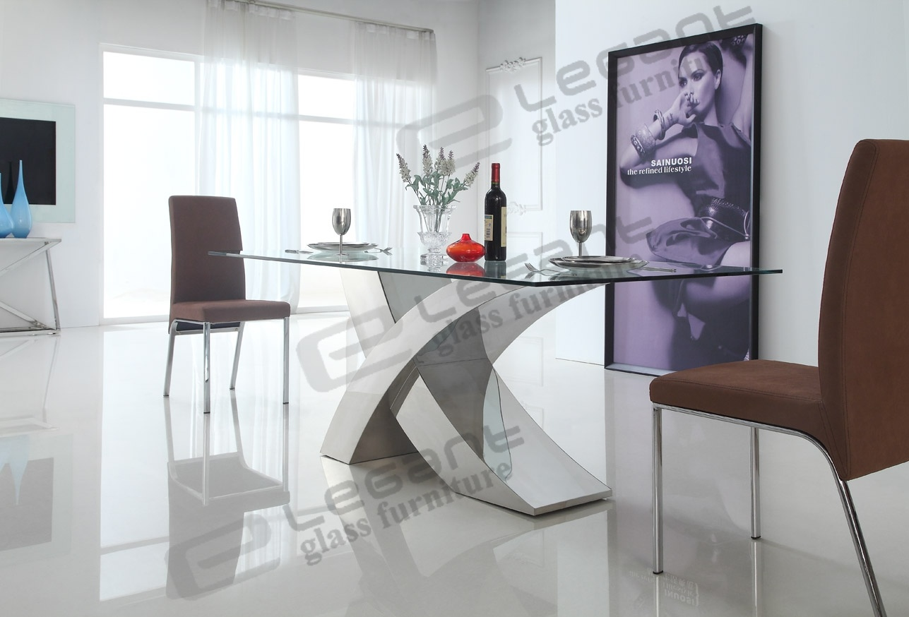 ... Glass Dining Table And Stainless Steel Dining. Download Part 51