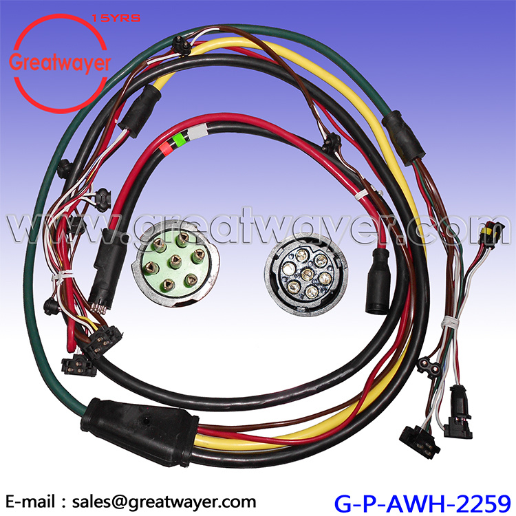 China 12AWG 7 Pin Adatper 3pin 2 Pin Connector Trailer Wiring