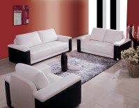 China Black and White Color Leather Sofa (ES8029) - China ...