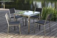 China Outdoor Furniture-Stainless Steel Vigo Dining Set ...