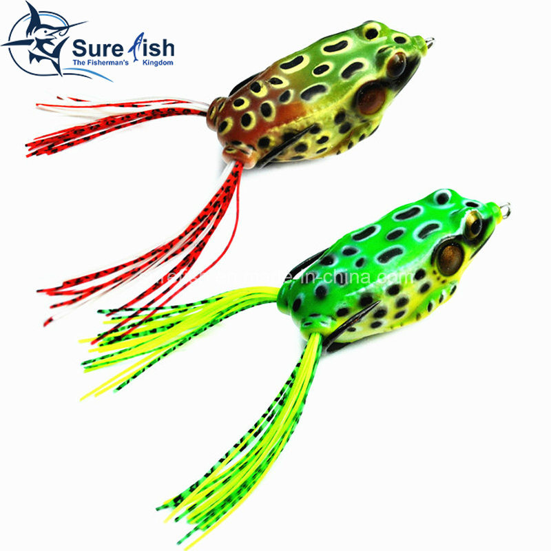China Vmc Hooks Soft Plastic Bait Hollow Body Frog Fishing Lure - frog body