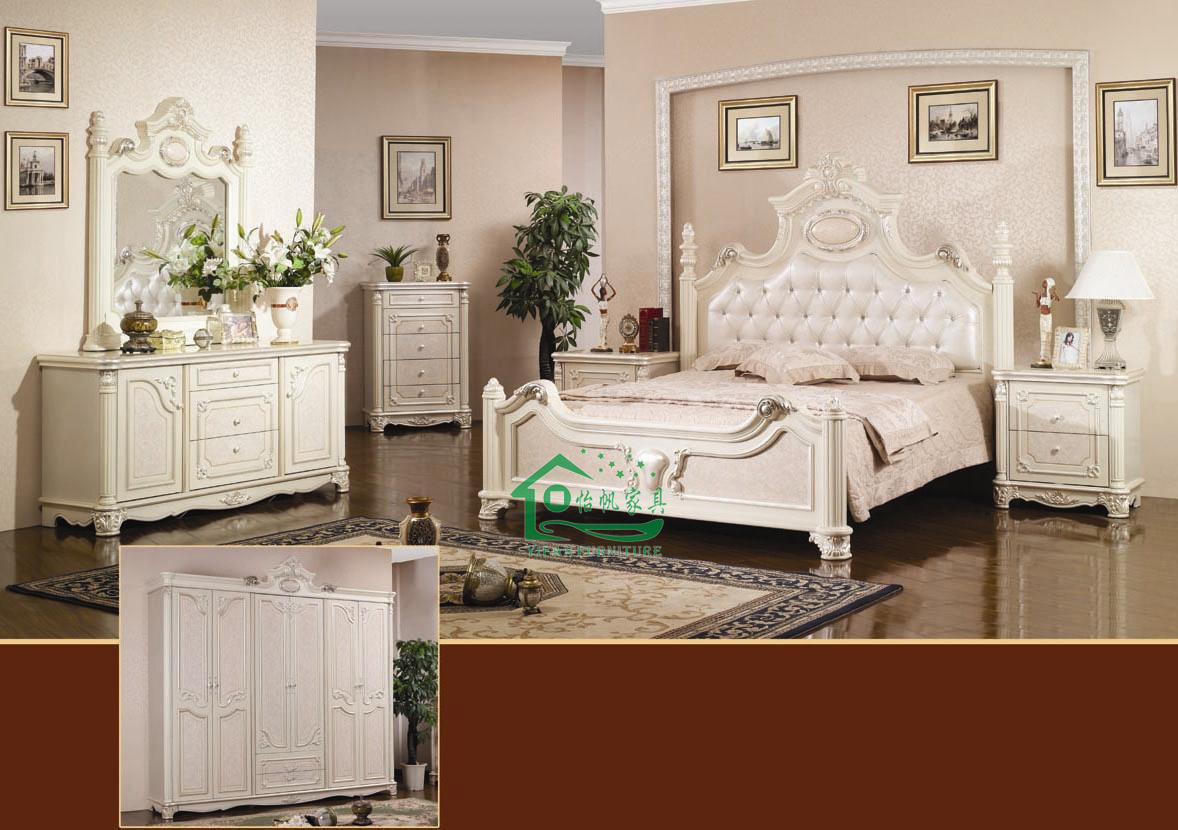 Chambre A Coucher Blanche Classic Bedroom Furniture With Dressing Table Yf W839