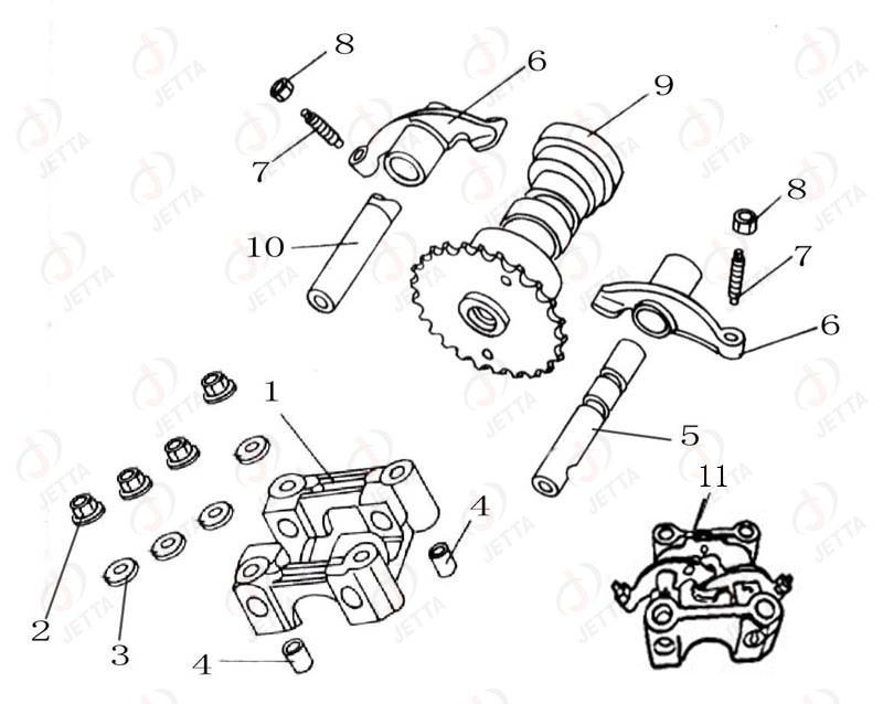 scooter Diagrama del motor