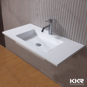 China Acrylic Solid Surface One Piece Bathroom Sink And
