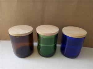 China Wholesale Amber Geo Cut Glass Wine Bottle Candle