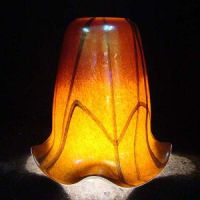 China Handblown Glass/Murano Glass/Colored Frit Glass Lamp