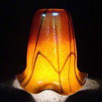 China Handblown Glass/Murano Glass/Colored Frit Glass Lamp