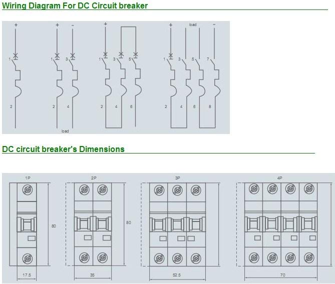 Solar DC Circuit Breaker DC1000V 4 Pole 6A-63A DC MCB - China