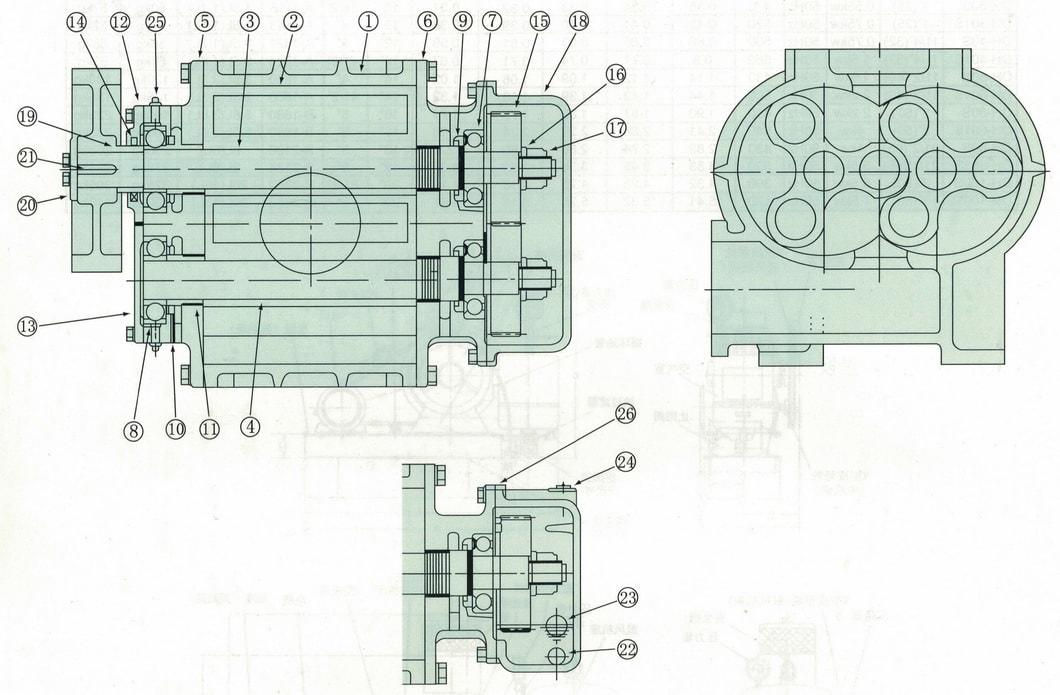 Dsr150V Roots Vacuum Pump Factory for Industrial Vacuum Cleaner