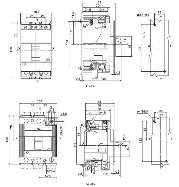 relay contactor circuit breaker