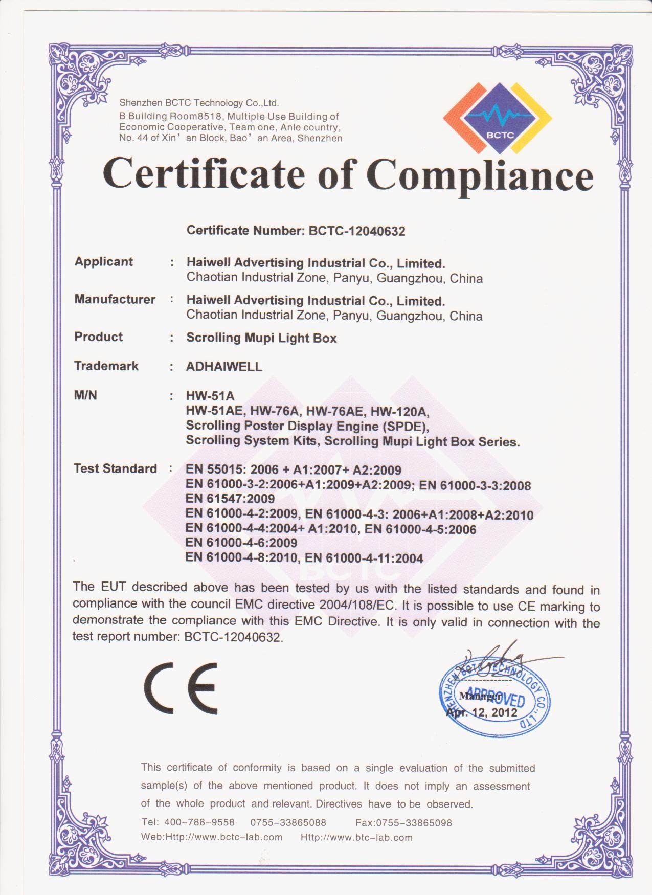General Sample Of Cv – Conformity Certificate Template