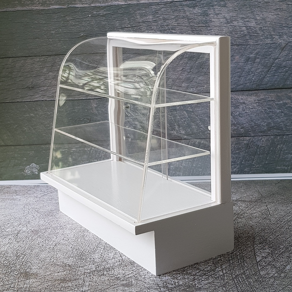Bakery Display Cabinet Dollhouse Miniature Acrylic Cabinet Shelving Cake Bakery Display 1 6 Scale