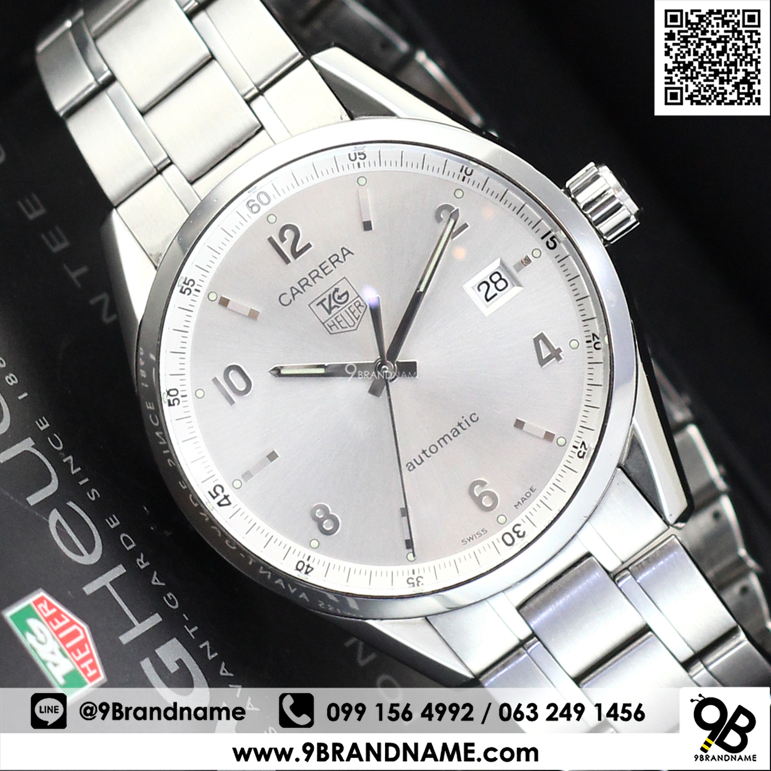 Cariera' Tag Heuer Carrera Wv211a Ba0787 Stainless Steel Men Size 39 Mm