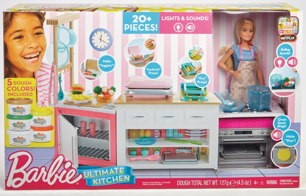 Küchen Spiele Barbie Quotcooking And Baking Quot Deluxe Küche Spielset And Puppe