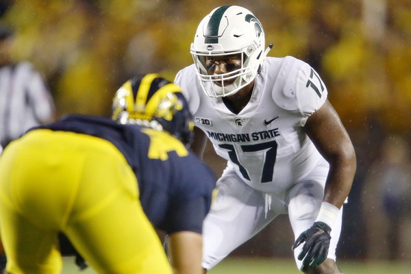 Michigan State\u0027s first depth chart shows starting spots undecided